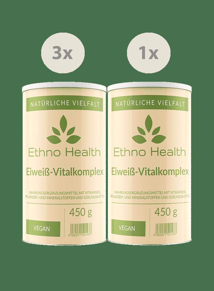 Die Eiweiß Vitalkomplex Kur von Ethno Health bei GorillaGreen